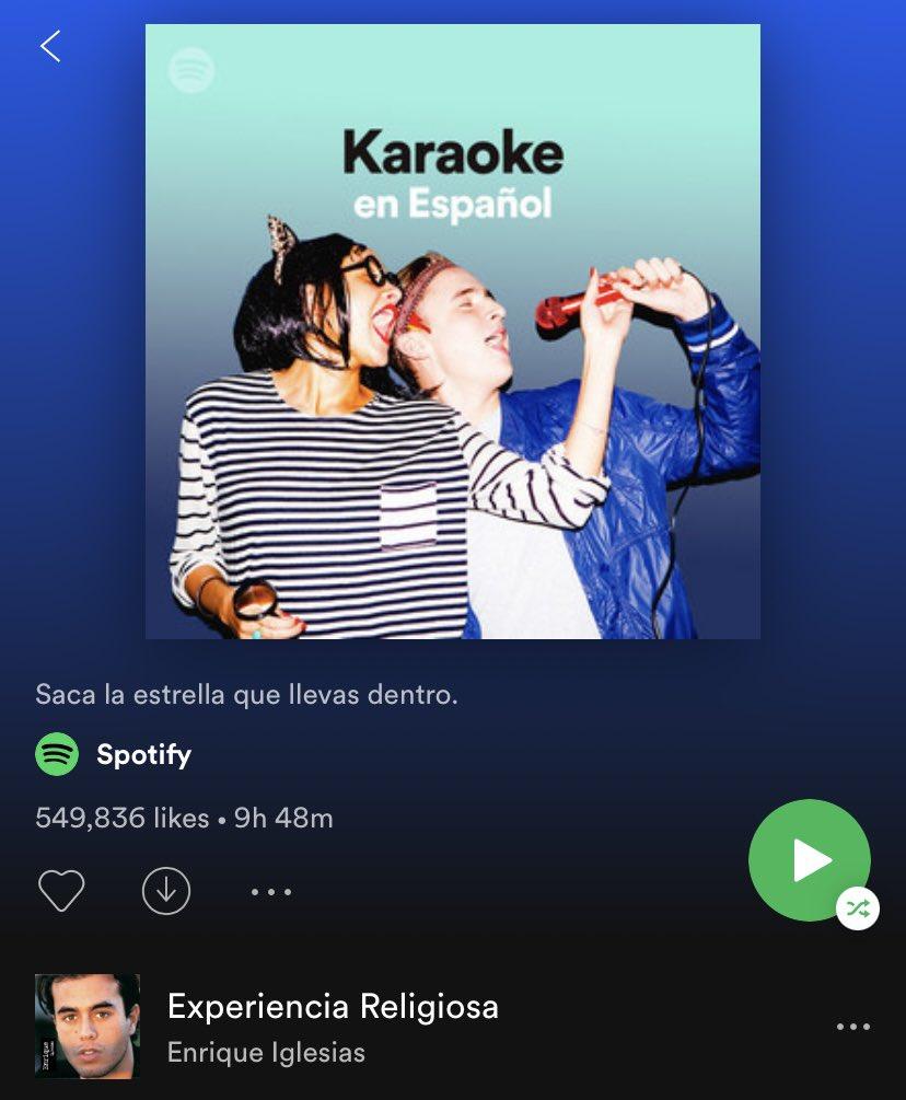 Experiencia Religiosa es parte de la playlist Karaoke en Español de @Spotify. Stream:  🎤💃