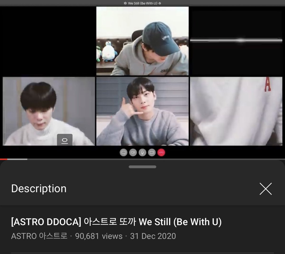 [📈] 210101 2:00 AM KST 'We Still (Be With U)' DDOCA Official Channel: 90,681 views (🔺13,084) 🔗youtu.be/zyk2KpV6avk Naver TV: 99,570 views (🔺5,288) 🔗naver.me/FVPwMoN9 [ #아스트로 #ASTRO_BeWithU @offclASTRO ]