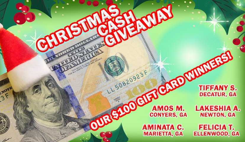 Congratulations to our $100 winners from the Cash Pop Christmas Cash Giveaway!   Want more chances to win? Visit https://t.co/ColrztlvSf to play Cash Pop and become automatically entered into weekly, monthly and quarterly second chance Cash Pop drawings! #GetWinning https://t.co/GhzV0TS9BC