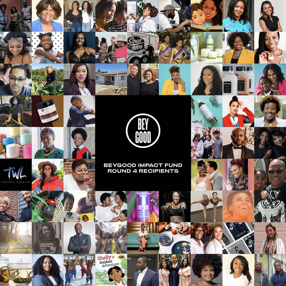 As we close out 2020, we are honored to give some good news by announcing Round 4 of the Small Business recipients.  Visit  to see the full list of recipients and to support Black Businesses.  #BeyGOOD HERE'S TO A BRIGHTER 2021!