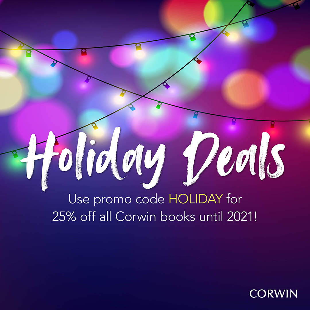 Today is your last chance to get 25% off books when you use code HOLIDAY at us.corwin.com