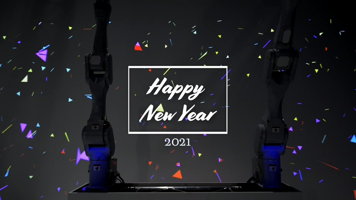 There's no better way to ring in the new year than a robot dance party! Happy New Year from Epson!⠀  #NewYear #2020 #happynewyear #dancing #discoball