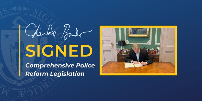 Governor Baker Signs Police Reform Legislation