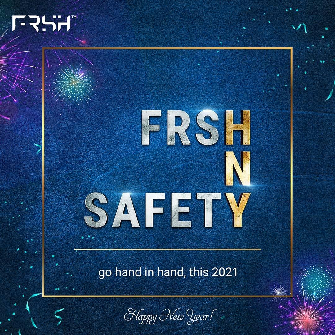 Kaamna hai ki ho apka naya saal bohot hi FRSH!! Aap sabhi ko a very Happy New Year, team FRSH ki taraf se.☺️ #RahoFRSHRahoSafe
