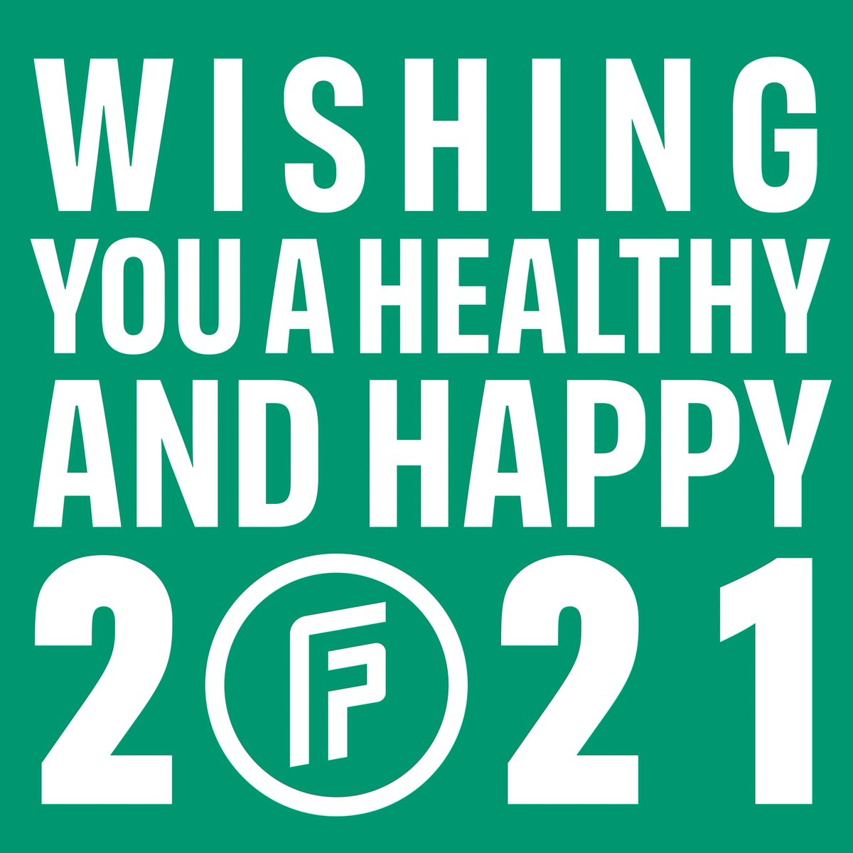 Wishing you a healthy and happy 2021! 🎉