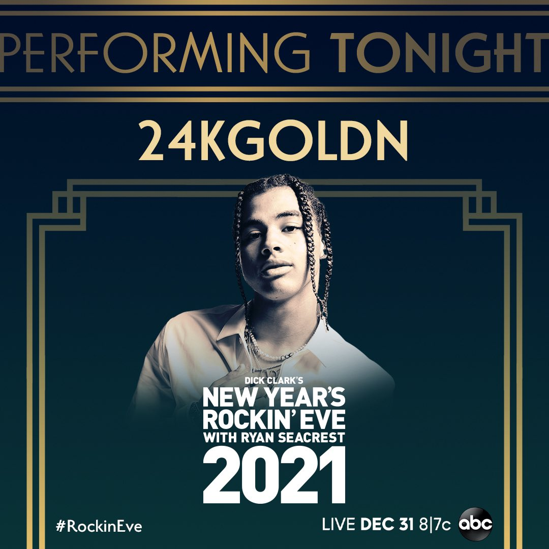 Yerrr wrap up the year with me and @ianndior TONIGHT on @NYRE! 📺 See yall soon on @ABC. #RockinEve
