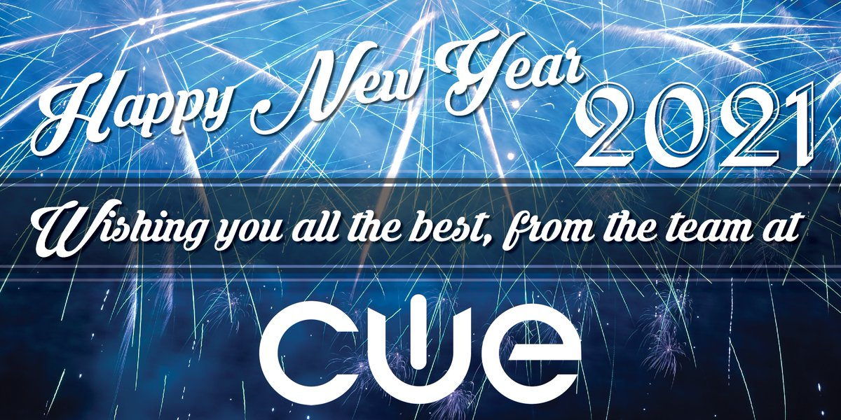 Here's to the start of a new year! Wishing you all the best in 2021! #WeAreCUE