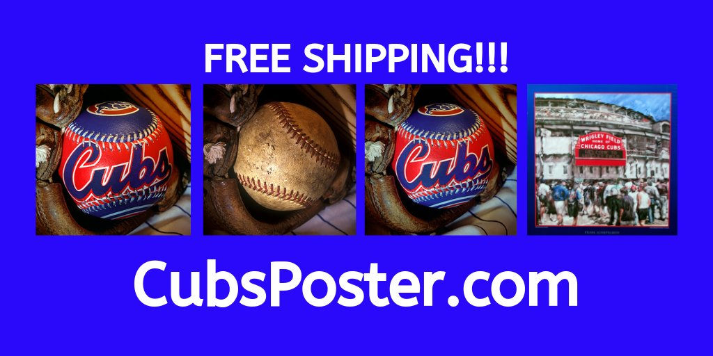 4 posters to choose from!  Ship anywhere in America!!!  Free Shipping!    #chicago #cubs #wrigley #wrigleyfield #cubbies #poster #freeshipping #gocubsgo #baseball #posters #mlb #gift #giftideas #new