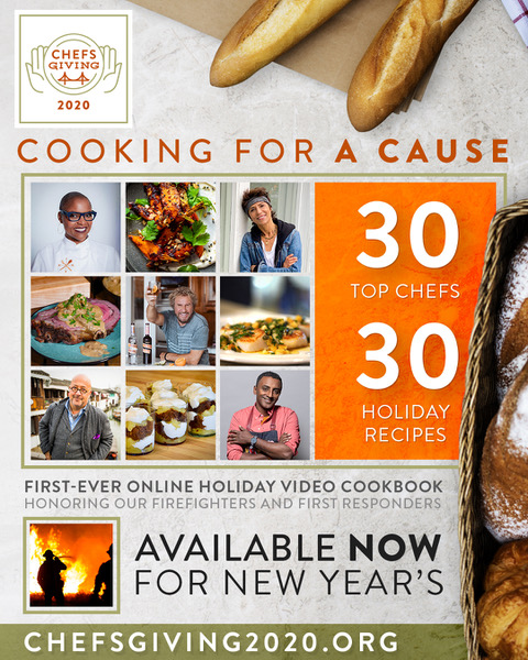 Ring in the New Year with a few of my favorites in this @chefsgiving 2020 Online Video Cookbook!   More info at    Donations support Firefighters & First Responders.