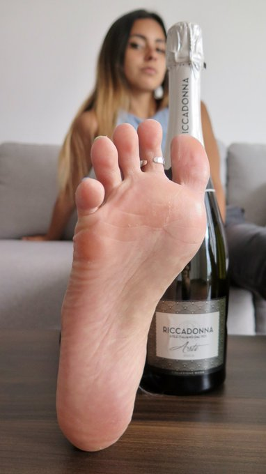 2 pic. I bet you would love to drink this with me tonight...  What about drinking it from my feet? Wanna