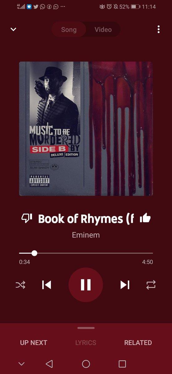 #MusicToBeMurderedBySideB . . . . . . #bookofrhymes 😇