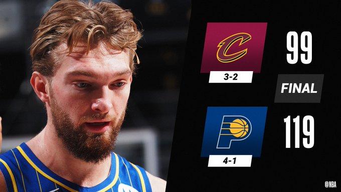 NBA – Gli Indiana Pacers superano di slancio Cleveland grazie a Sabonis