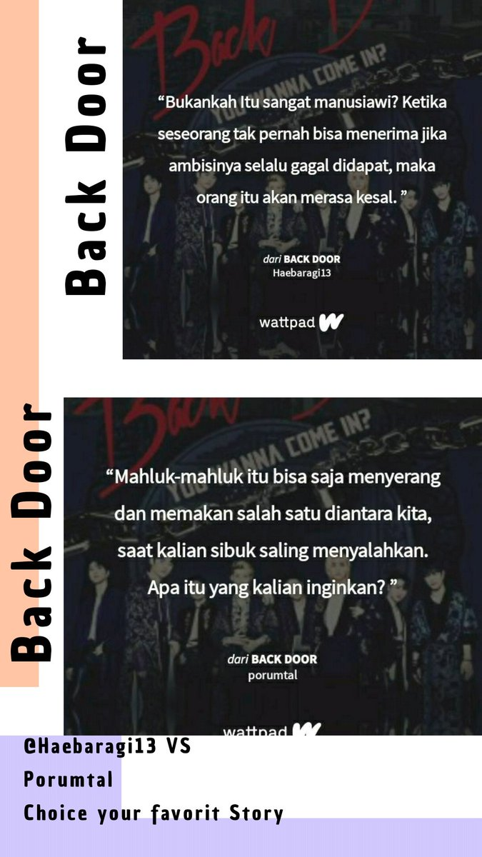 Fanfic Versus Project with @minie_haebaragi   Klik link wattpadnya 👇    #StrayKids #fanfiction #backdoor100m