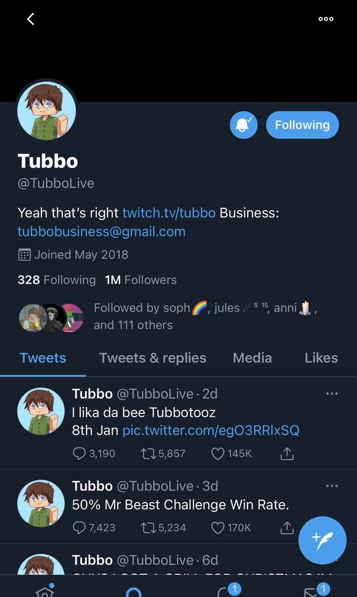 LETS GO CONGRATS TUBBO #tubbo1mil @TubboLive