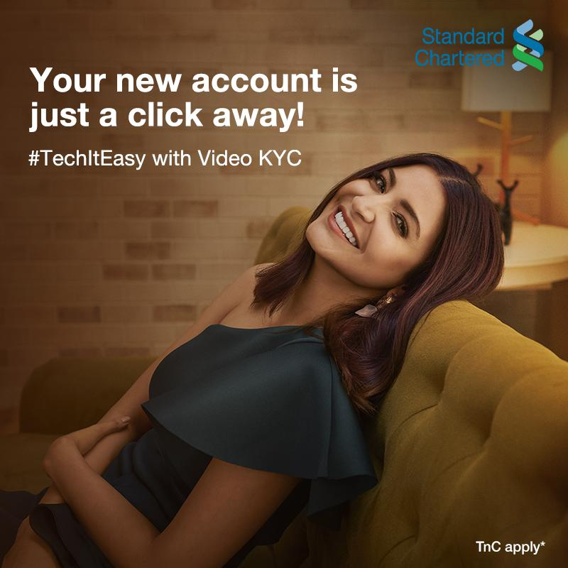 We are here to make sure the journey to savings, for your goals, is made easier! With Standard Chartered's video KYC facility, open new savings account effortlessly and #TechItEasy. To know more,   #StandardChartered #VideoKYC