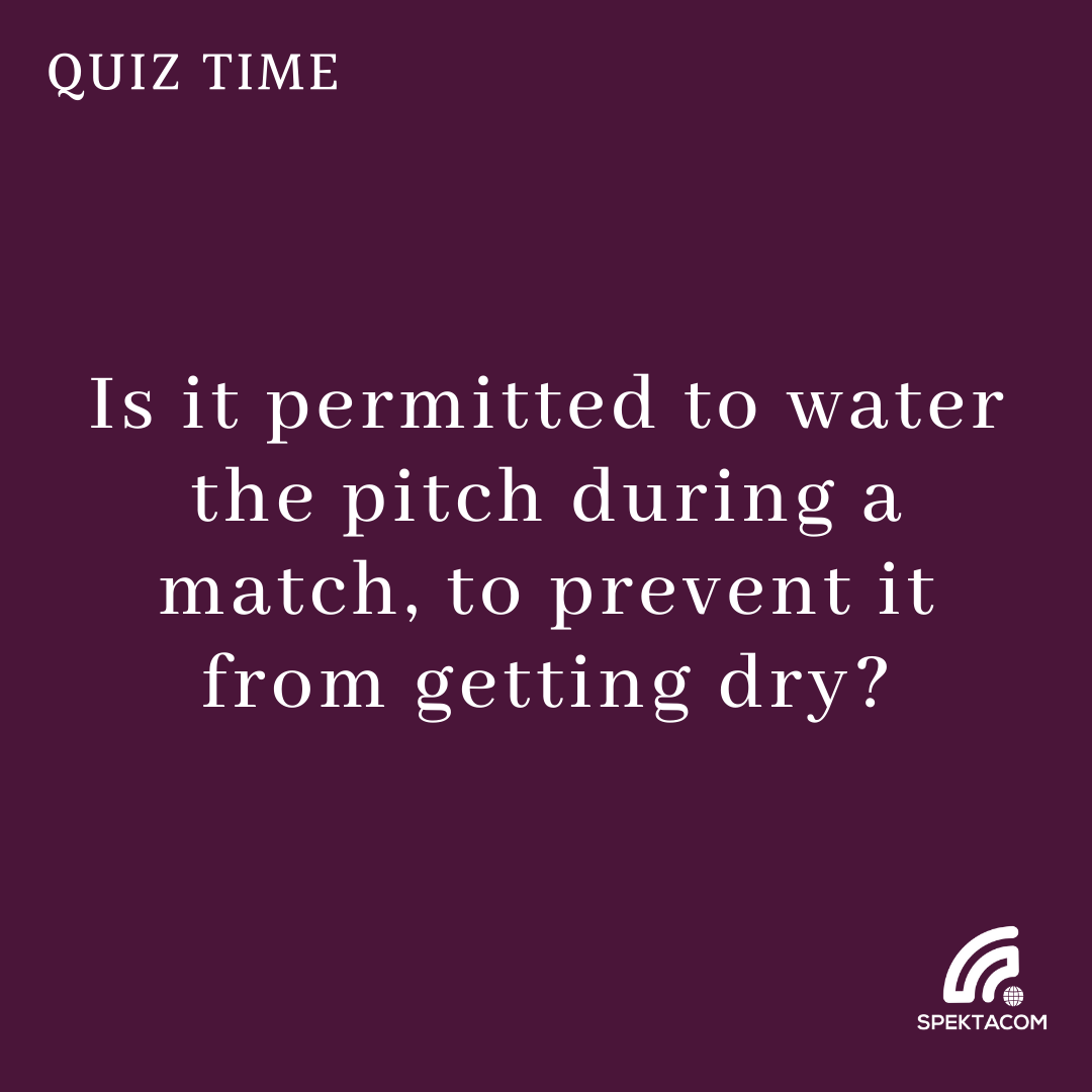 How about growing some grass on the pitch? 😀 #Cricket #Spektalk #Quiz 44 #FridayFun