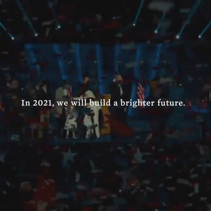 Replying to @JoeBiden: In 2021, we're going to build a brighter future.
