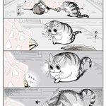 何気ない仕草に刺激される狩猟本能!コタツの中へ引っ込めた手を追い掛けるネコの癒し漫画!