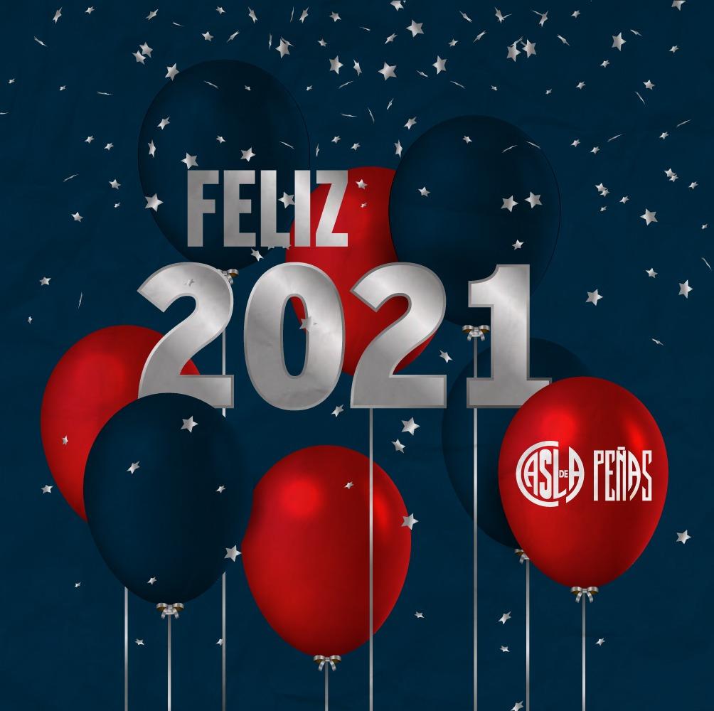 Les deseamos a todos y todas un feliz año nuevo, en especial a quienes nos han acompañado a lo largo de este 2020 tan atípico.  Brindemos porque este año nos encuentre nuevamente juntos militando por y para #SanLorenzo   #MasQue90Minutos 💙❤  #SLFederal 🇦🇷 #DeBoedoAlMundo 🌍✈️