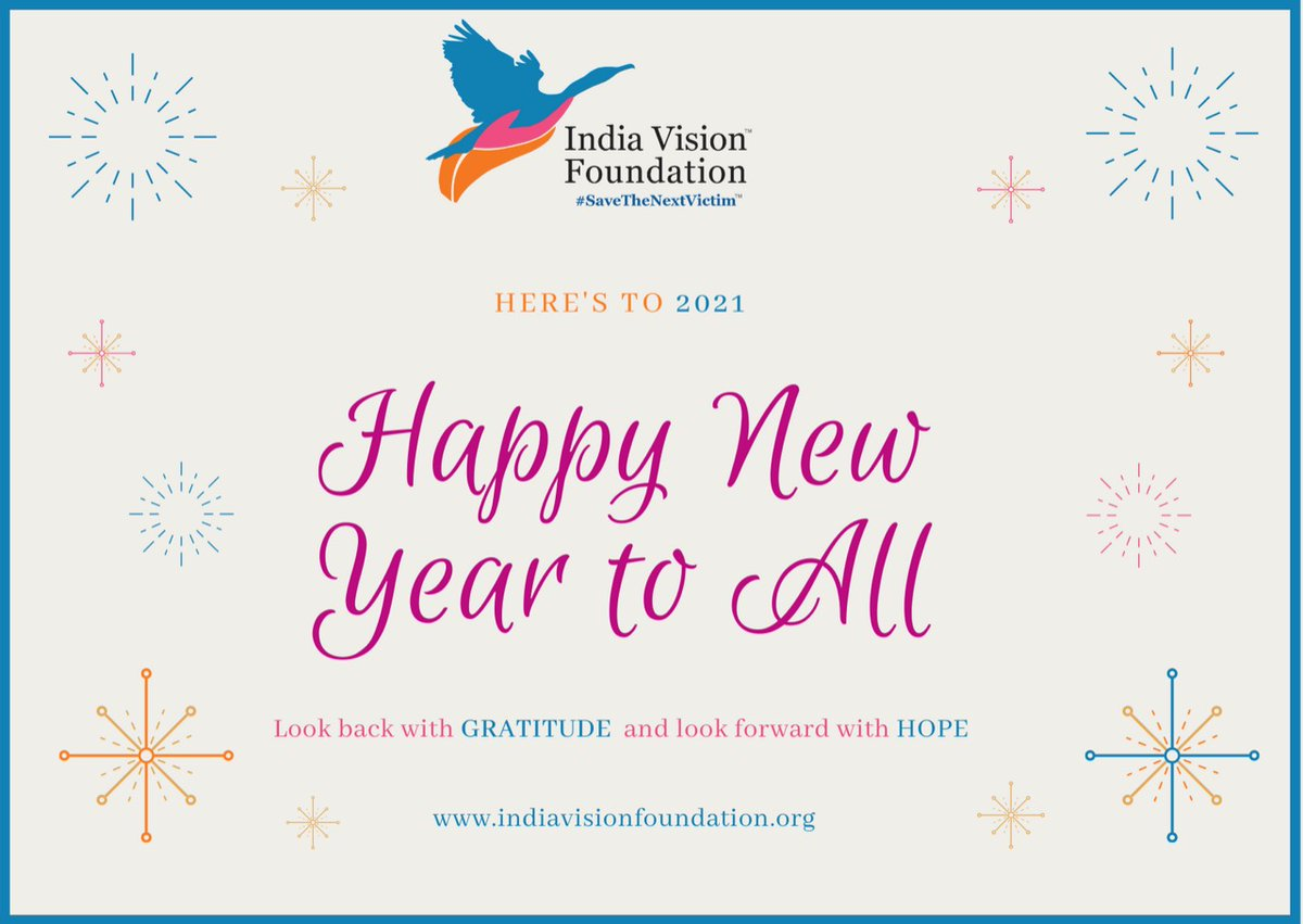 Team India Vision Foundation wishes you all a very Happy & a prosperous New Year 2021! 😇✨  @SainaBharucha @thekiranbedi  . . #SaveTheNextVictim #PrisonReforms #ChildrenOfInmates #Vulnerable #NGO #India  #welcomenewyear2021