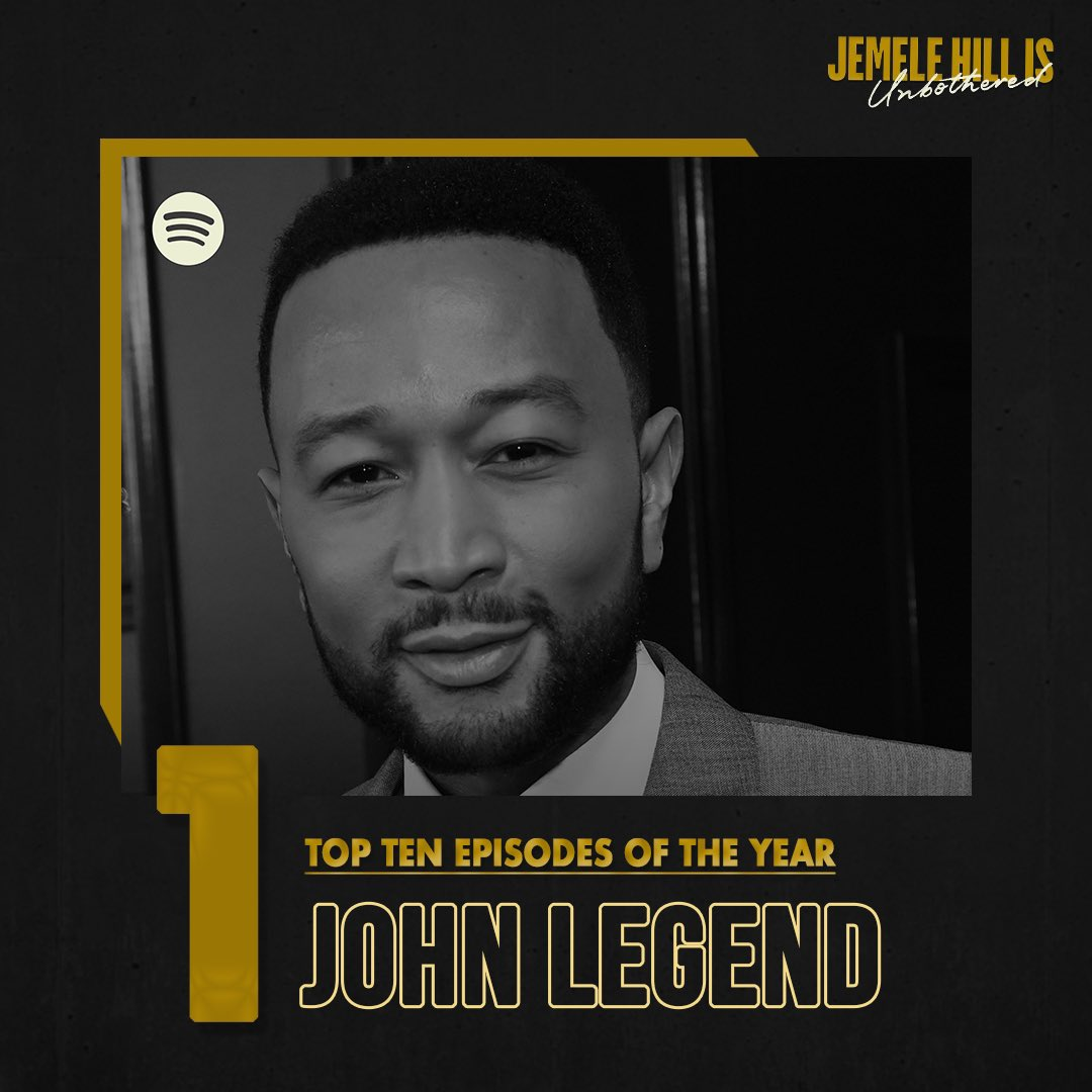Most downloaded episode of 2020?  That goes to the megastar, @johnlegend! He discussed his activism, career and @jemelehill gets him to say a few curse words 🤣. Listen to the full interview: