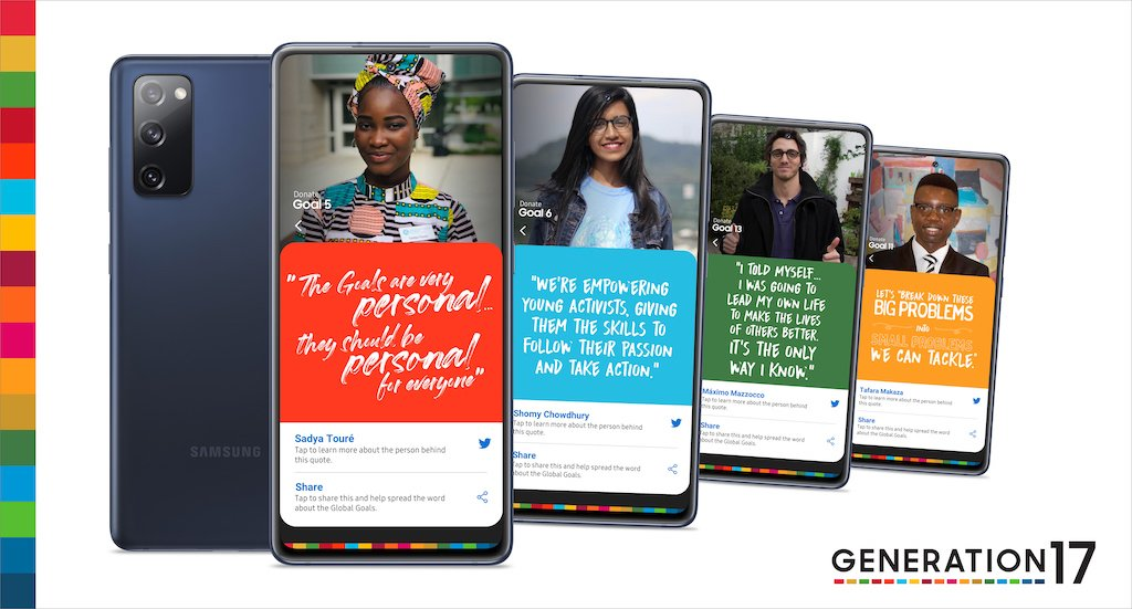 #2020AfricaHighlights- October  .@UNDP and @SamsungMobile introduced the 4 #Generation17 #Youth2030 visionaries who are rallying for a more sustainable future through #ClimateAction, #GenderEquality, #CleanWater, & #EndPoverty initiatives and beyond!