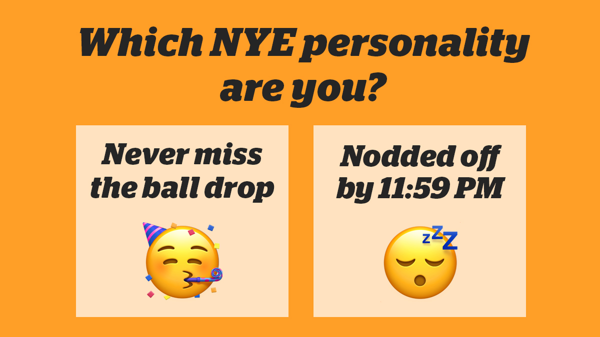 Do you stay up till midnight on New Year's Eve… or just try to? Comment with a 🥳 or 😴 to cast your vote!