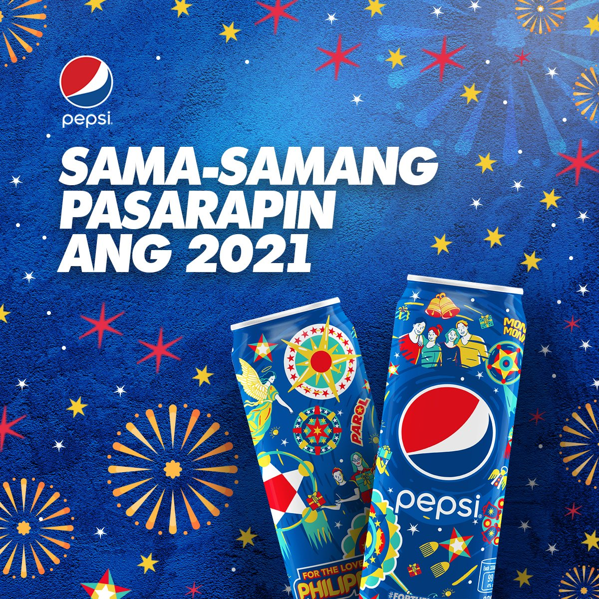 Congrats, we survived 2020! Pasarapin ang bagong taon with Pepsi. Cheers! #PepsiLovesChristmas