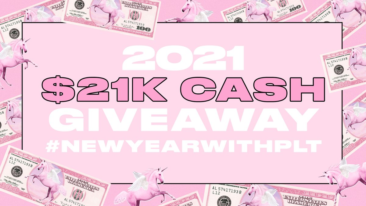 💫🤩 2021 $21k CASH GIVEAWAY 🤩💫 Follow the steps below to be in the chance of winning 21 x £1000 CASH ready for the new year 💖  Retweet this tweet 💫 Tweet us by tagging @OfficialPLT and #NewYearWithPLT  💖 Follow @OfficialPLT 🤩