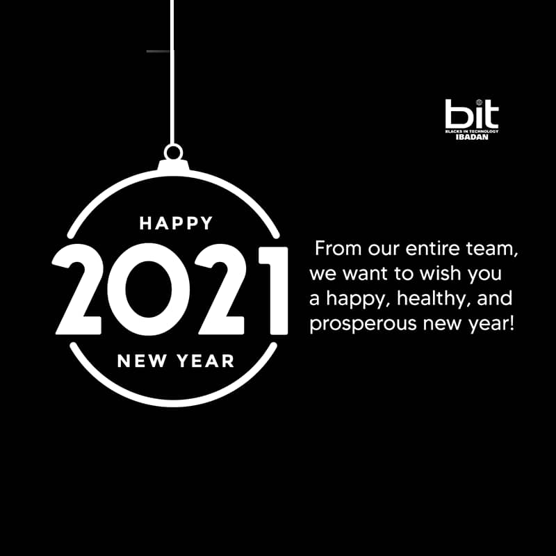 As we celebrate the new year, we hope that it ushers in new beginning and awesome opportunities.  #HappyNewYear2021