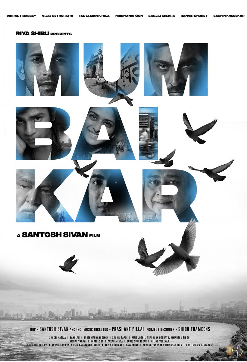 Title logo of new film #Mumbaikar directed by #SantoshSivan and lead stars are @masseysahib, @VijaySethuOffl, #TanyaManiktala, #HridhuHaroon, #SanjayMishra, @RanvirShorey, and @SachinSKhedekar.