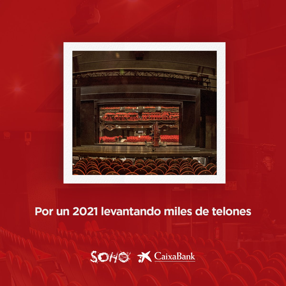 La familia del Teatro del Soho @caixabank os desea un feliz 2021.