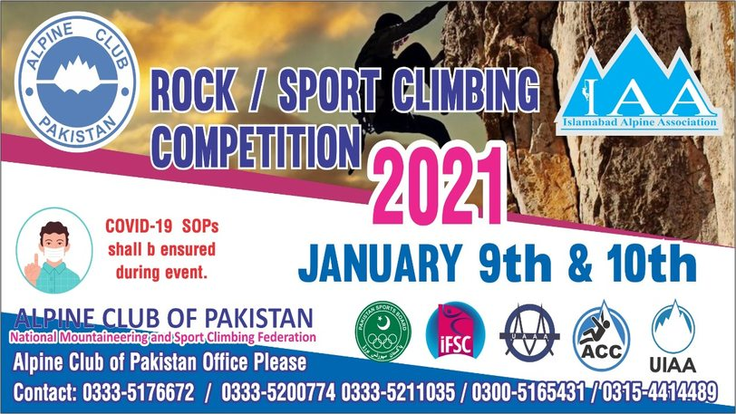 Alpine Club of Pakistan is organizing Rock/Sport Climbing Competition 2021. Details: https://t.co/50T4MznjNI #climbling #climbinglife #climbing_is_my_passion #mountaineering https://t.co/L41ryVBt12