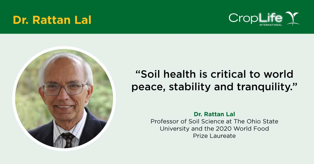 We had the distinguished pleasure of interviewing @WorldFoodPrize Laureate Dr. Rattan Lal for #WorldSoilDay on the importance of #soil to #foodsecurity, fighting #climatechange, and even #worldpeace. We had some amazing takeaways from this discussion!