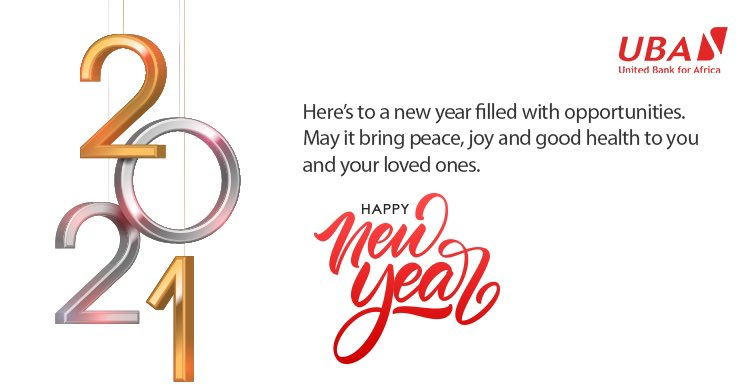 Cheers to 2021. 🥂 May the new year bring peace,  joy and good health to you and your loved ones. #HappyNewYear2021 #AfricasGlobalBank