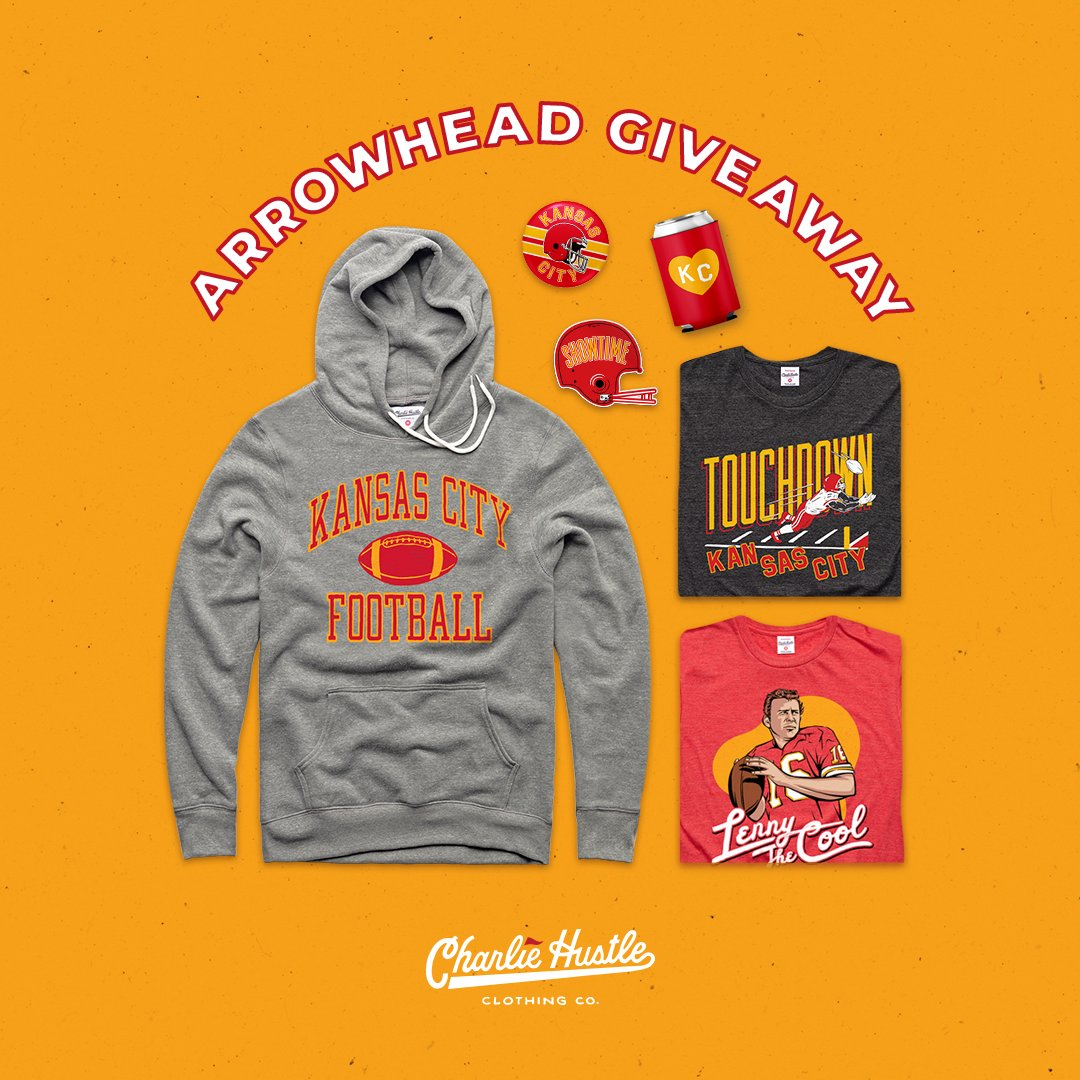 🎉🎉 HAPPY 2021 AP GIVEAWAY 🎉🎉  @CharlieHustleCo wants you to be the best-dressed #Chiefs fan for the playoff run.  Simply follow us & RT to win all of these items! We'll choose the winner on Saturday, 1/2.  (*see next tweet for official rules and eligibility*)
