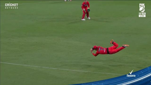 The catch of the tournament!? The best fielder in the world!? What a grab...  #BBL10 | @BKTtires https://t.co/ByRq1ecBCL