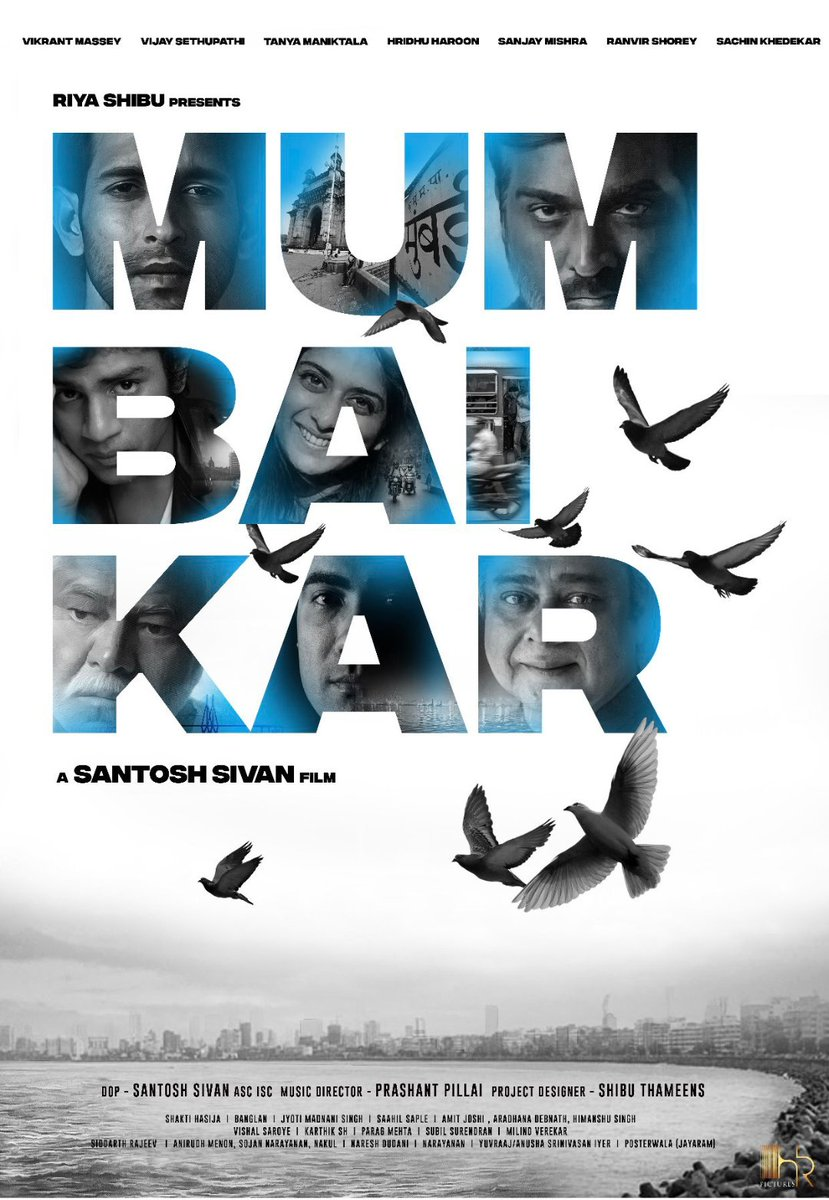 This is what we have been waiting First LOOK!!!!  @santoshsivan film!!! @VijaySethuOffl @masseysahib #tanyamaniktala #hridhuharoon #sanjaymishra @RanvirShorey #sachinkhedekar
