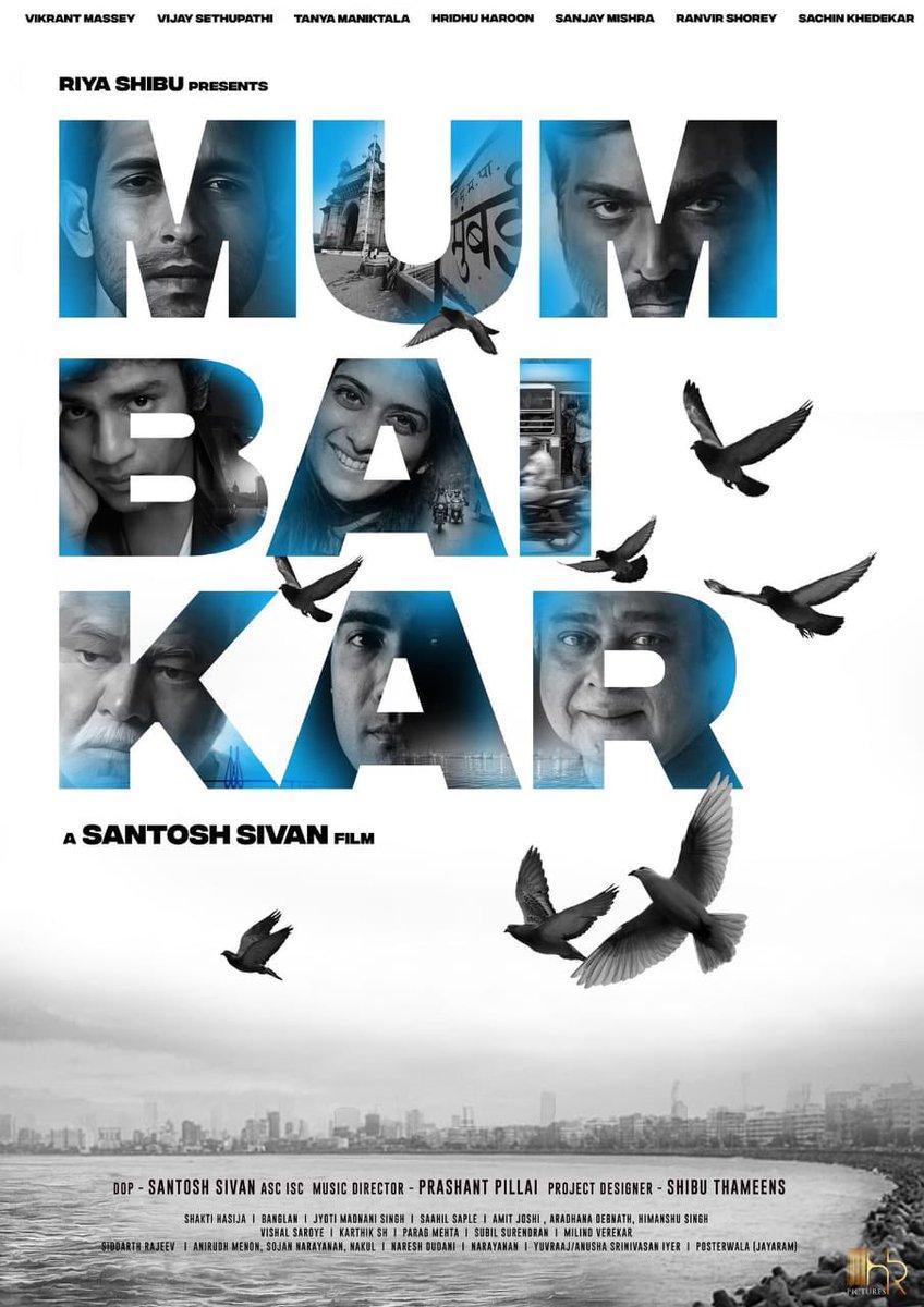 #Mumbaikar Title Look👏  #VikrantMassey, #VijaySethupathi, #TanyaManiktala, #HridhuHaroon #SanjayMishra, #RanveerShorey, #SachinKhedekar 👌  Directed by #SantoshSivan 🎥  Official remake of Blockbuster #Maanagaram 🔥  @santoshsivan @shibuthameens @VijaySethuOffl
