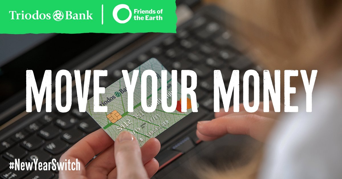 When it comes to #sustainable #NewYear resolutions, one of the most impactful actions you can take is moving your money to a sustainable financial provider.  Will you make a #NewYearSwitch to support positive change this year? @friends_earth
