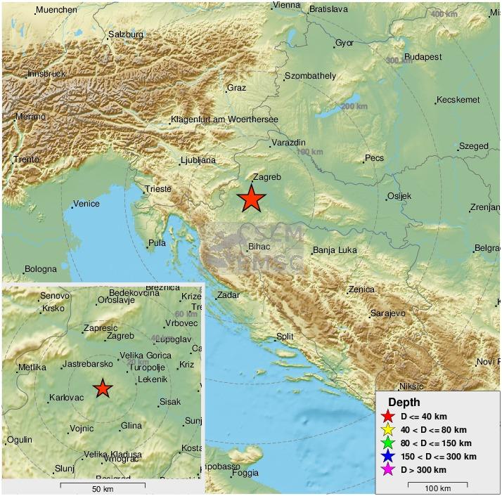 Emsc On Twitter Felt Earthquake Potres M2 5 Strikes 28 Km S Of Zagreb Centar Croatia 8 Min Ago Please Report To Https T Co 0hz31vcciv Https T Co Uk1srcioj2