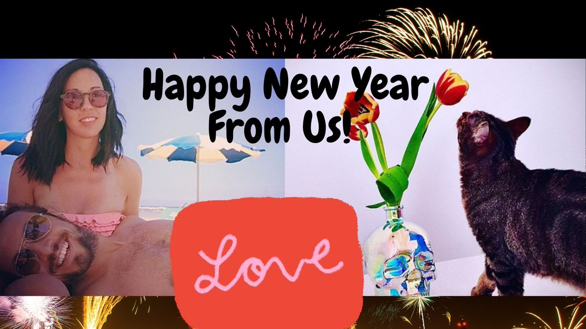 """""""HAPPY NEW YEAR TO EVERYONE""""  """"Wishing you a happy, healthy New Year""""   Stay Save, Stay Happy, Stay At Home ❤️😇  #newbeginnings #NewYear2021 #FamilyIsEverything #love #USA #CoupleGoals #WishYou"""