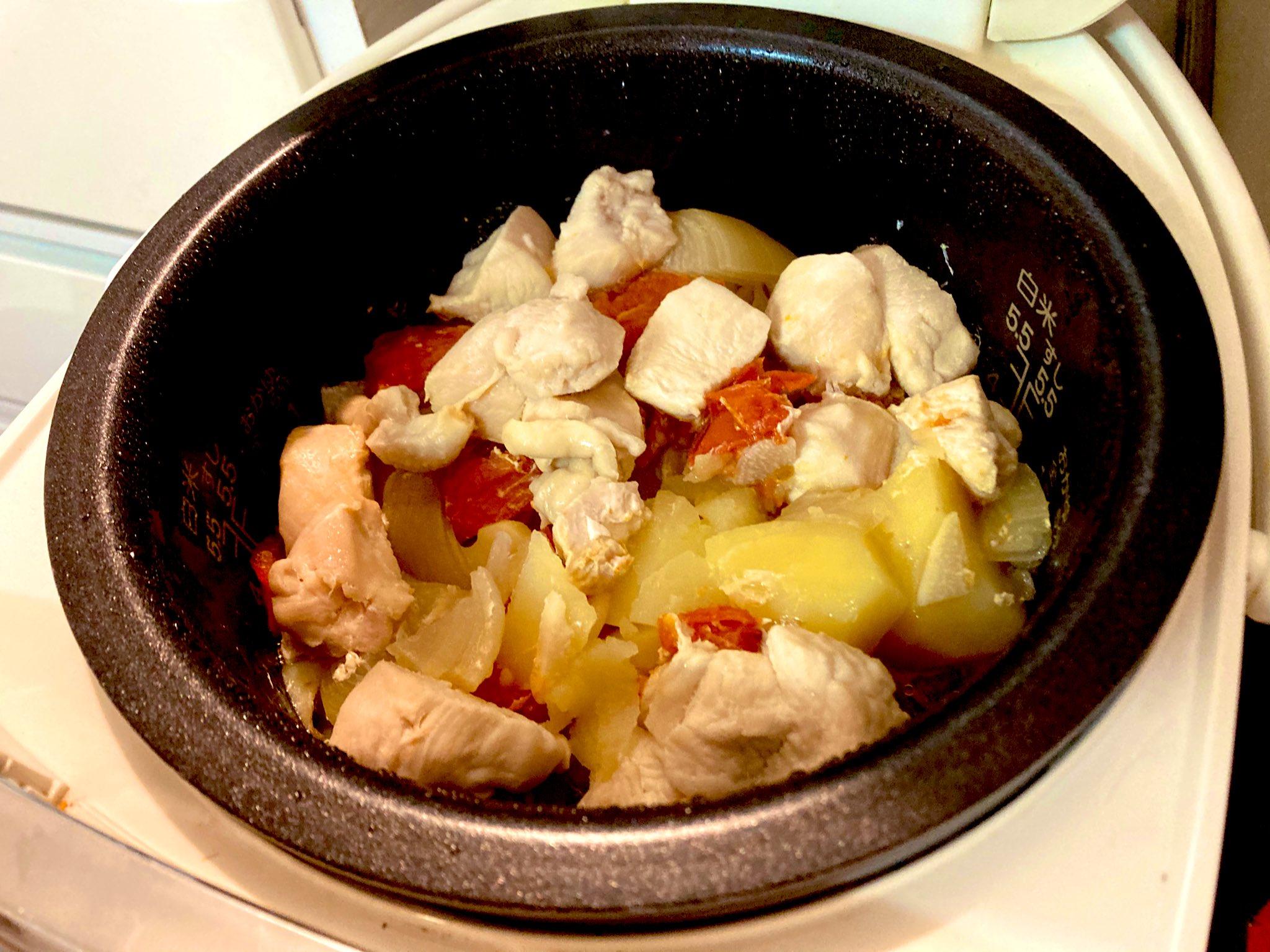 炊飯後のジャガバード
