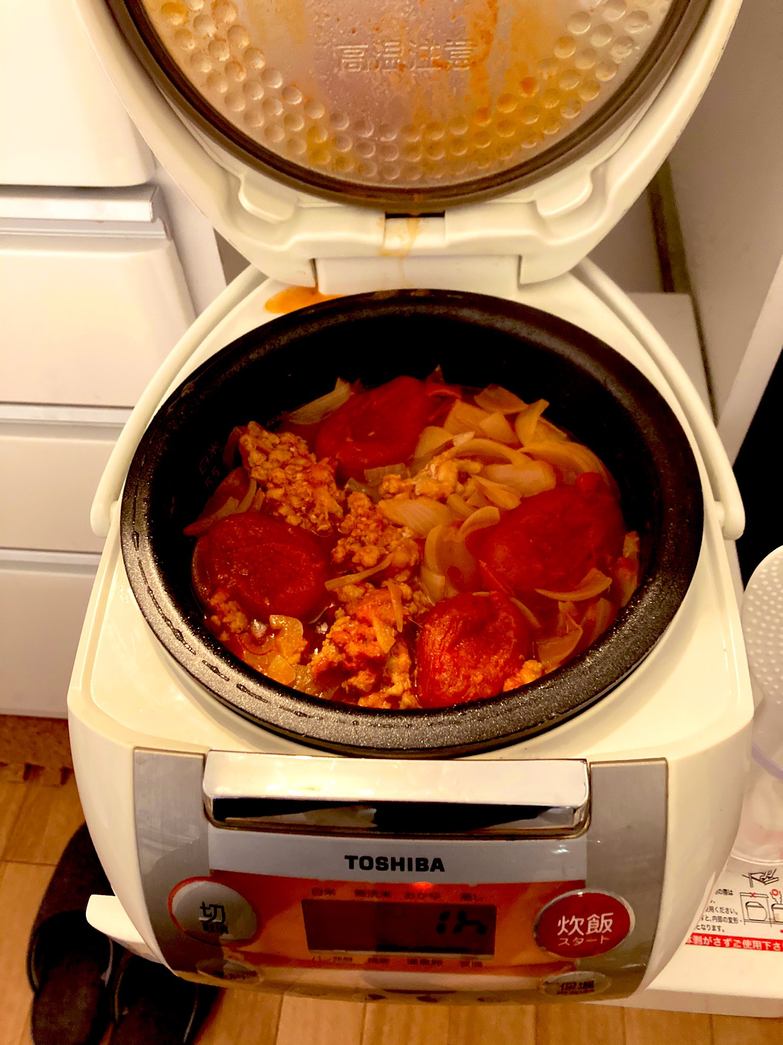 炊きあがり2回目ジャガバード