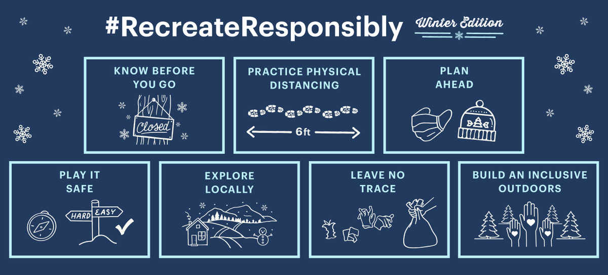 Is spending more time in national parks your New Year's resolution?  Make sure you know how to #RecreateResponsibly with @RecreateInfo before you head out.