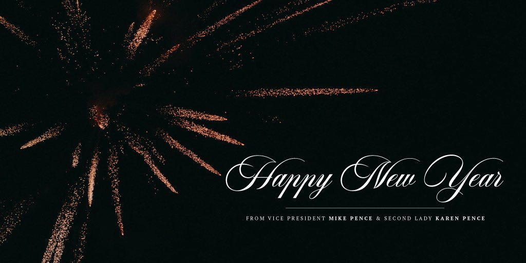 Happy New Year from our family to yours! @SecondLady and I wish you every blessing for a healthy and prosperous year ahead!
