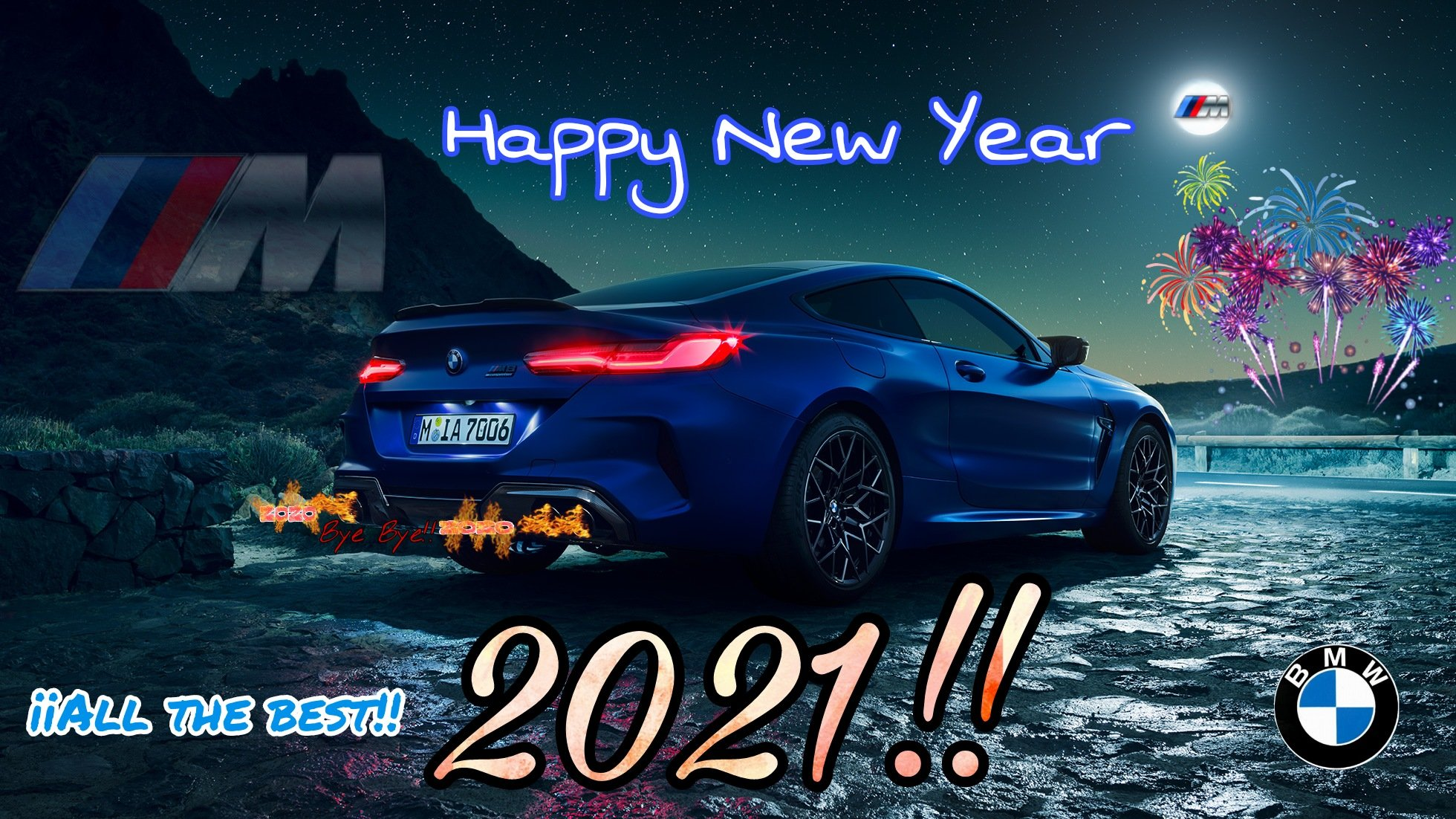 Bmw M Power M Performance Alpina Bmw Individual On Twitter Happy New Year M8 Competition F92 Happy2021 Bmw Mpower Adios2020 Byebye2020