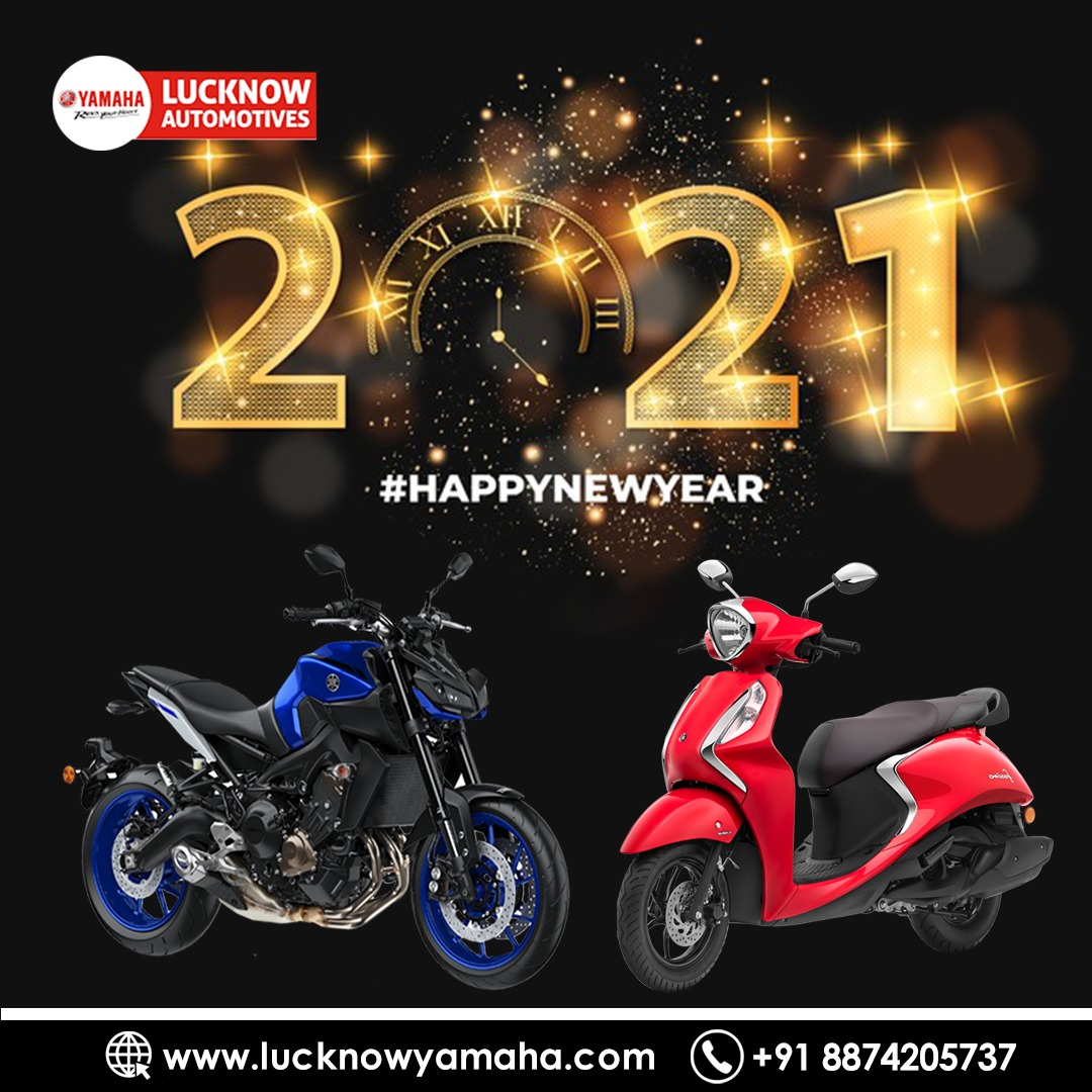We wish you and your loved ones a very #HappyNewYear2021 May the coming year be obsessed with #Bike #riding with #yamahalucknow. Call Us📲:-  For service:6388969783,8887745449 For sales: 8948433111 For spare: 9670419111 #Lucknow #theridinghunter #HAPPYNEWYEAR #HappyNewYear2021