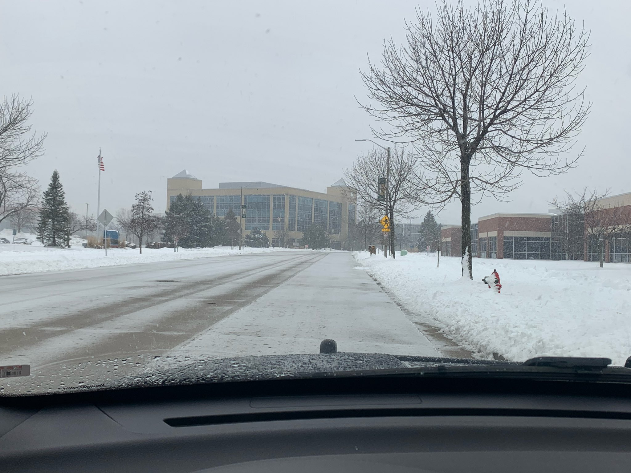 Photo of snow covered road in Wauwatosa.