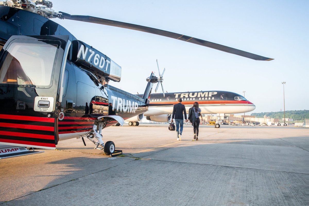 Flying into 2021 in style. #NeverSettle #Trump https://t.co/m8Hg2Q6fYL